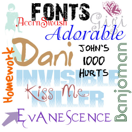 My Font Collection