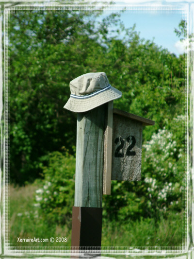 Hat on a post