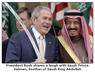 Bush with King of Saudi Arabia