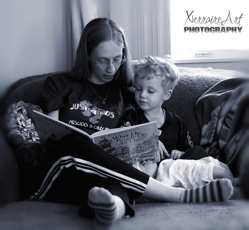 mommy reading silas a story