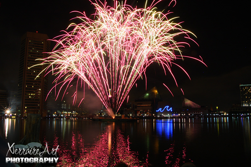 Baltimore harbor fireworks
