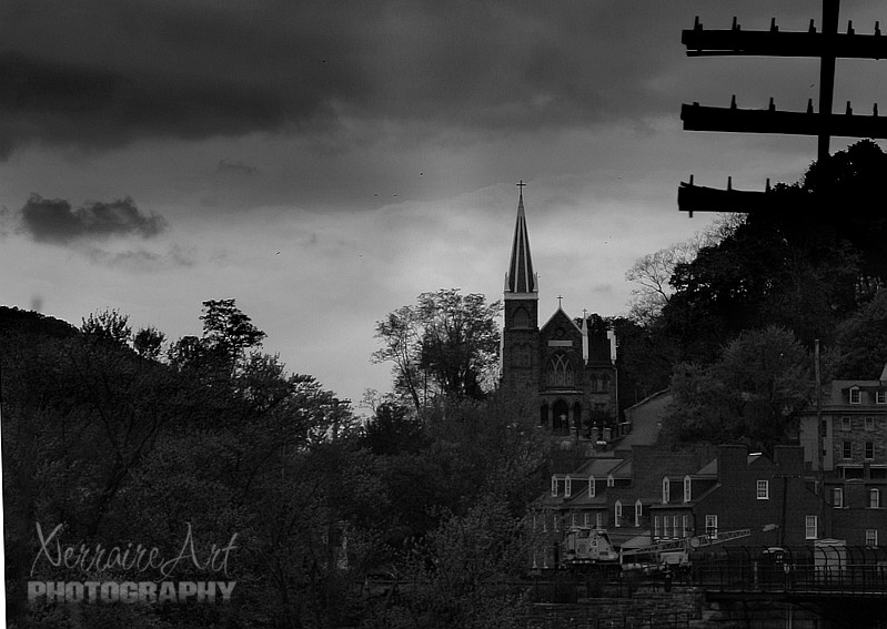 Harpers Ferry in Black and White
