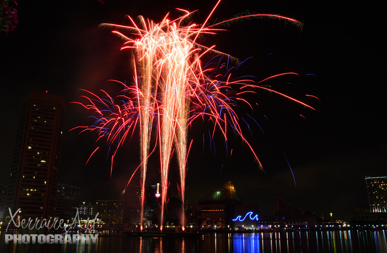 Fireworks at Baltimore Harbor