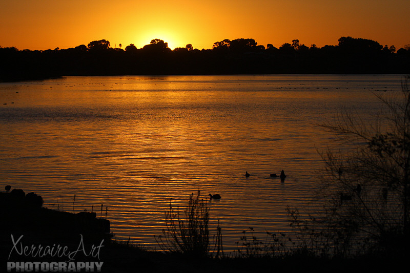 Sunset at Lake Monger
