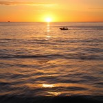 Boat in Perth Sunset