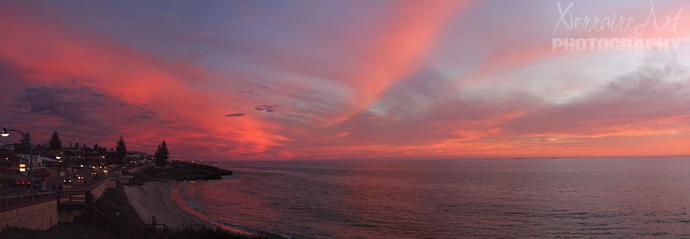 Stitched sunset