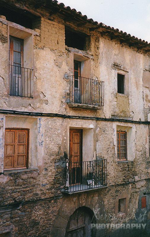 Balconies in Spanish village
