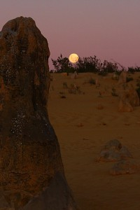 Moonrise Over the Pinnacles